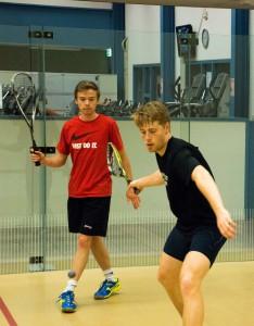 Squash competitie wedstrijden spelen